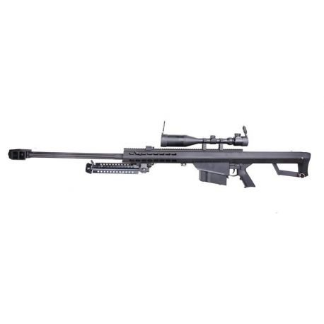 Sniper Barrett M82A1 w/ Lunette 3-9x50 AEG (Snow Wolf)