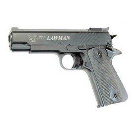 ASG STI Lawman Noir Culasse Fixe RE-AS14770 Pistolet à co2 - Co2