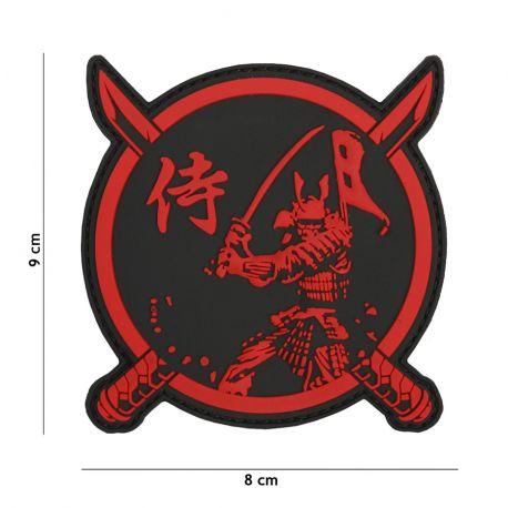 Patch 3D PVC Samurai Guerrier Rouge (101 inc)