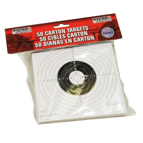 SWISS ARMS 50 Cibles cartonnées pour cible en métal (Swiss Arms) HC-AC-603420 Autres accessoires