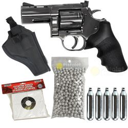 """ASG Pack airsoft Dan Wesson 715 2.5"""" Steel Grey CO2 (ASG) HC-PK-18613 Pack"""