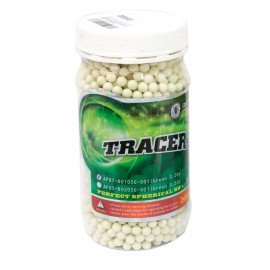 Bottle 0.20g Fluo Green Tracer 2400 Balls (G & G)